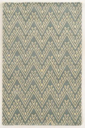 BBDBD859100460912 Bradberry Downs BD8591-9 x 12 Hand-Tufted 100% Premium Blended Wool Rug in Light Gray   Rectangle