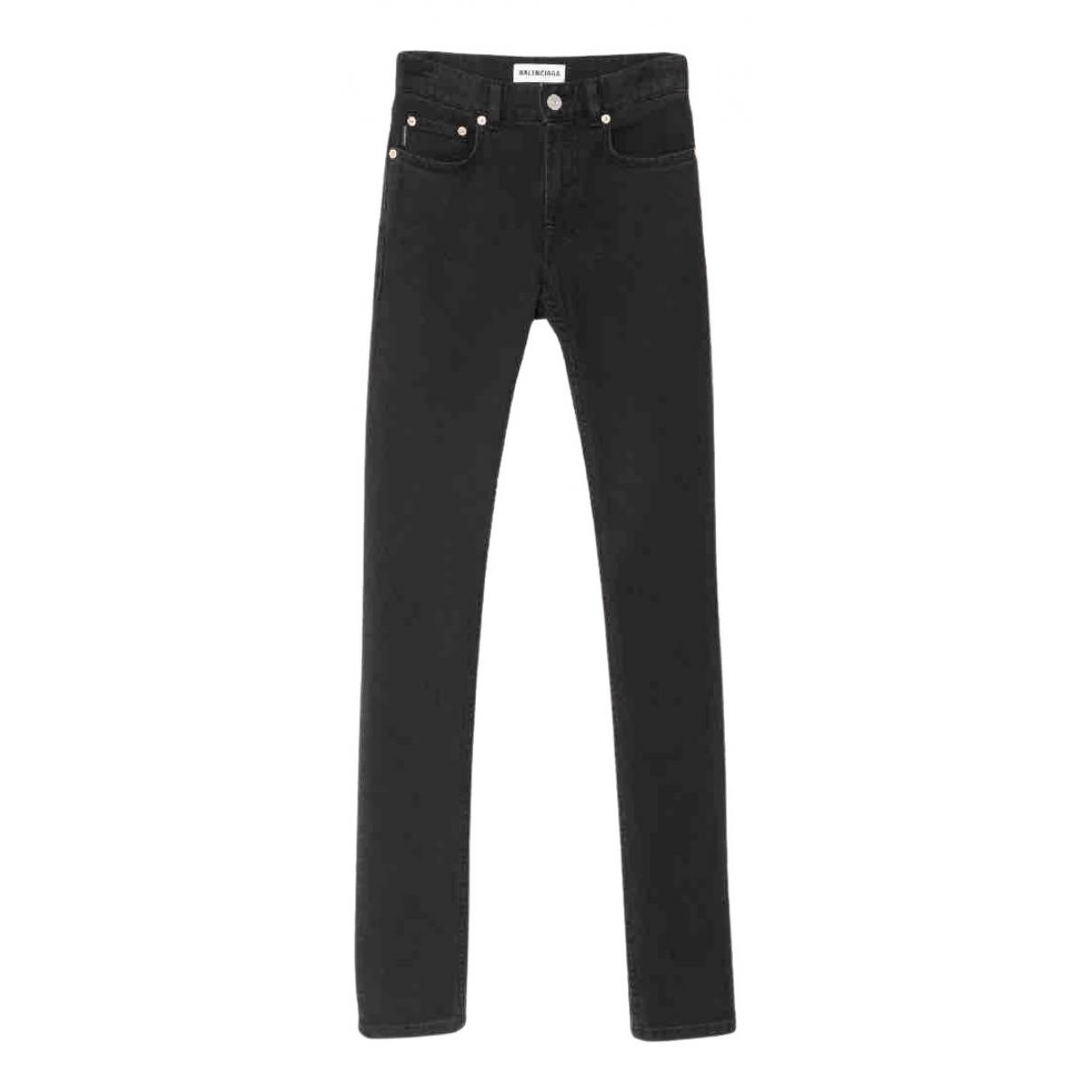 Balenciaga - Pantalon   pour femme en denim - noir