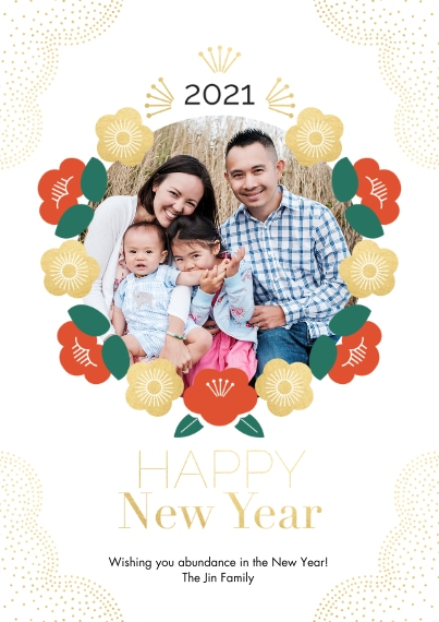 Chinese New Year 5x7 Cards, Premium Cardstock 120lb, Card & Stationery -Far East New Year