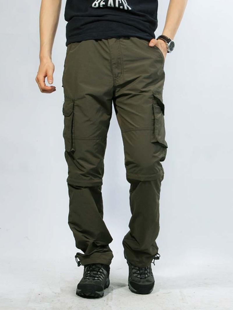 Ericdress Thin Pocket Plain Zipper Men's Casual Pants