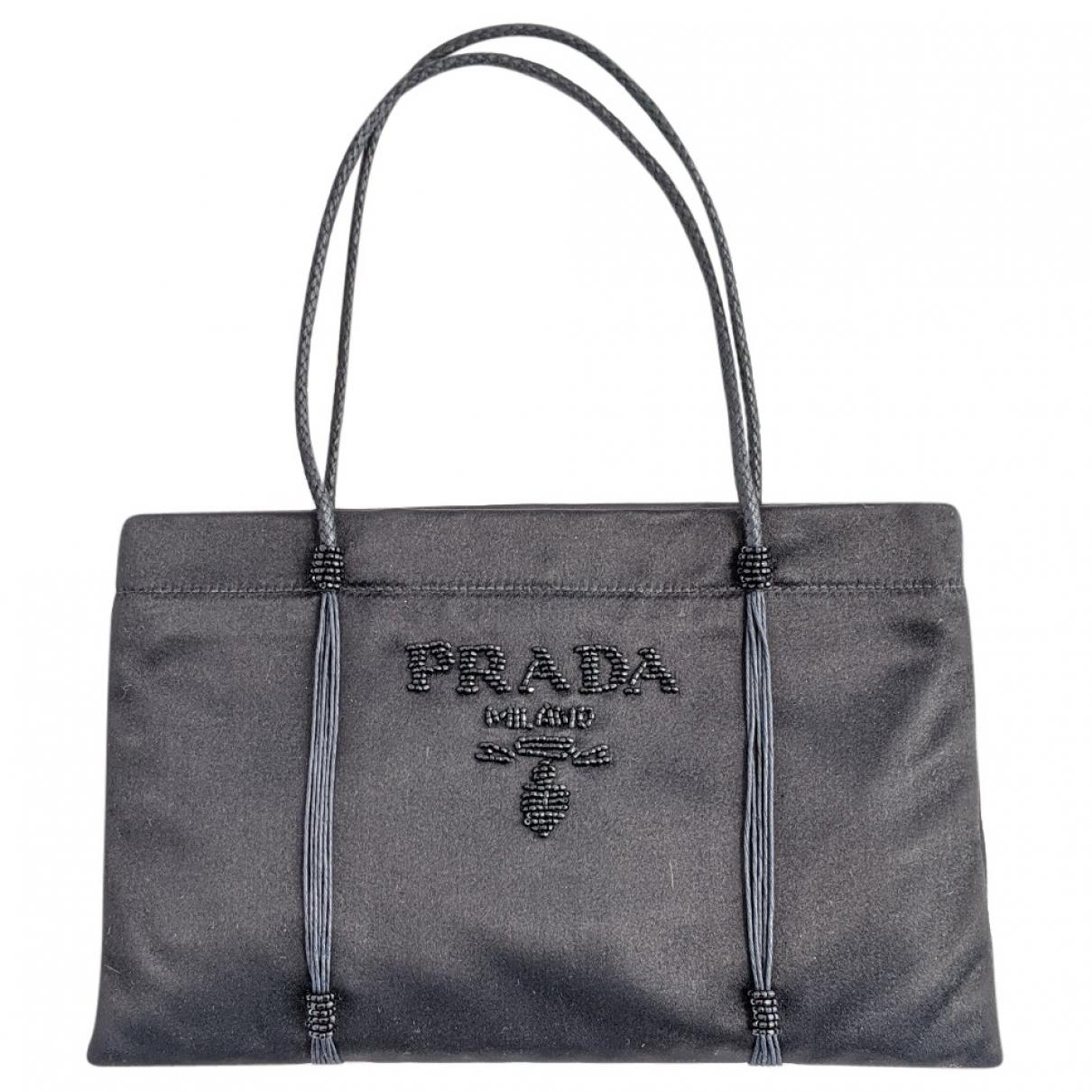 Prada \N Handtasche in  Schwarz Seide