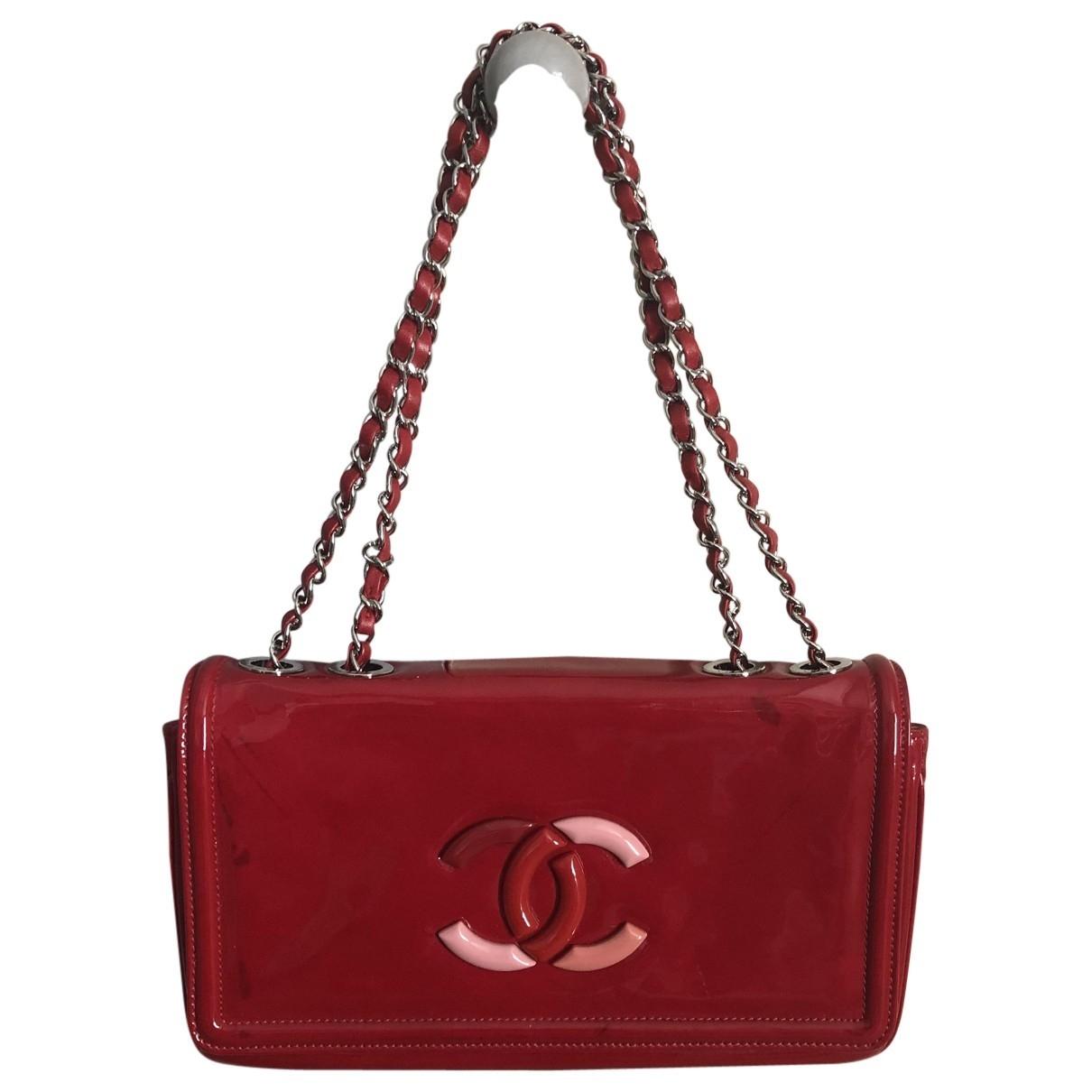 Chanel \N Handtasche in  Rot Lackleder