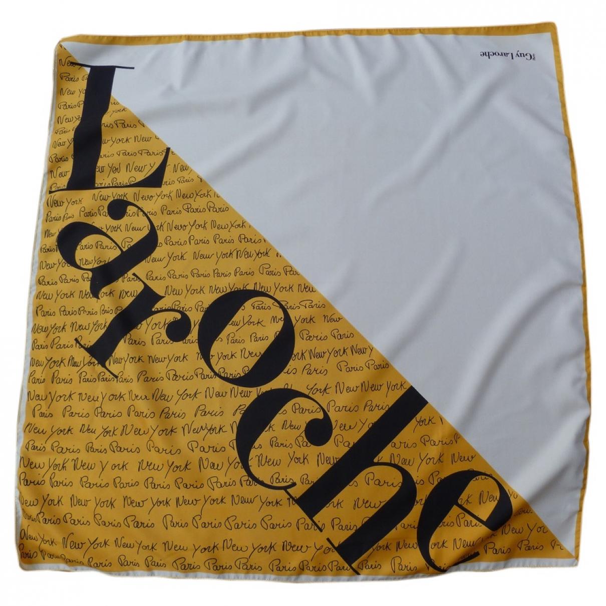 Guy Laroche \N Yellow Silk handkerchief for Women \N
