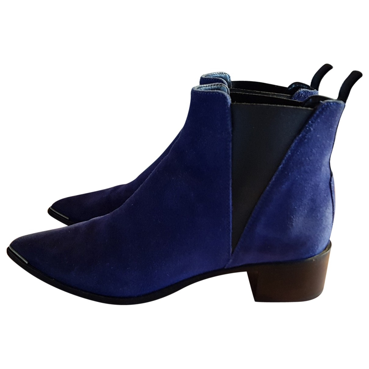 Acne Studios - Boots Jensen / Jenny pour femme en suede - bleu