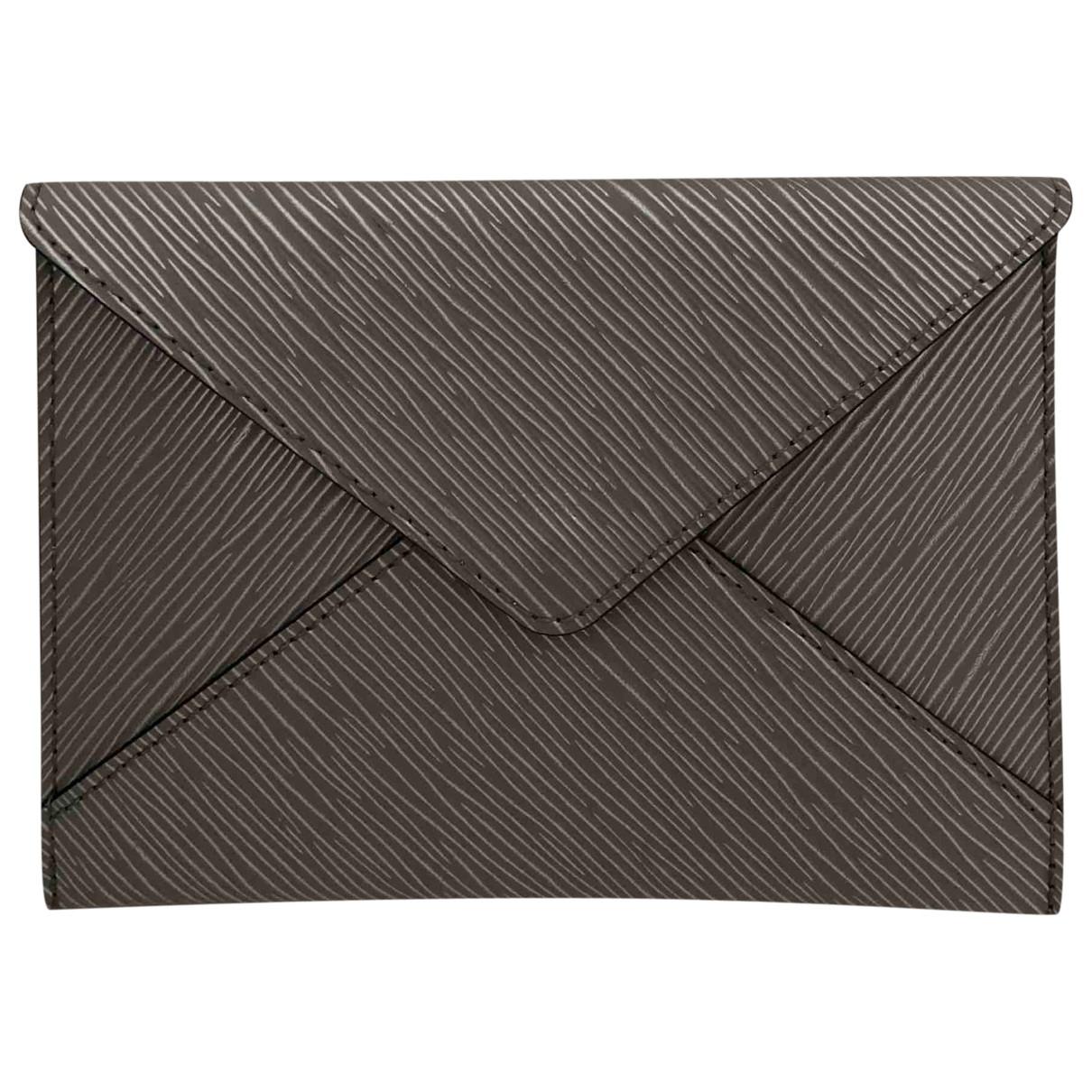 Louis Vuitton - Pochette   pour femme en cuir - argente