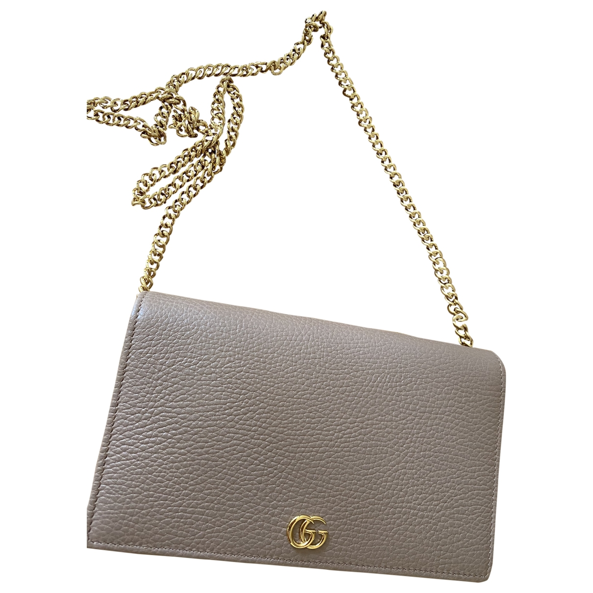 Gucci Marmont Beige Leather Clutch bag for Women \N