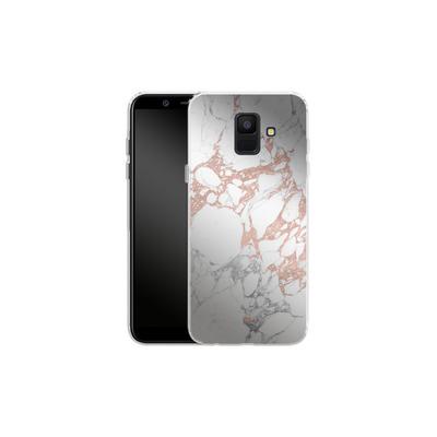 Samsung Galaxy A6 Silikon Handyhuelle - Marble Mix von #basic
