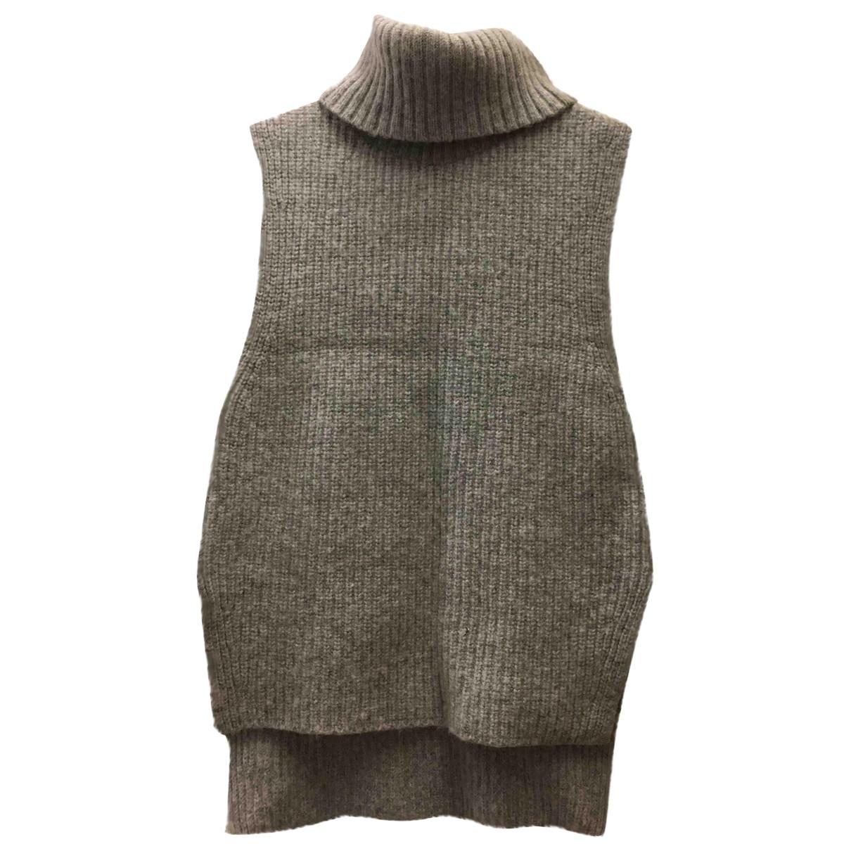 Uniqlo - Pull   pour femme en coton - gris