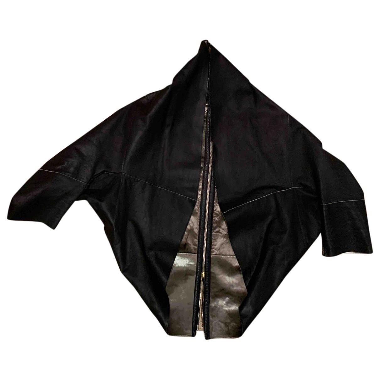 Fendi - Veste   pour femme en cuir - noir