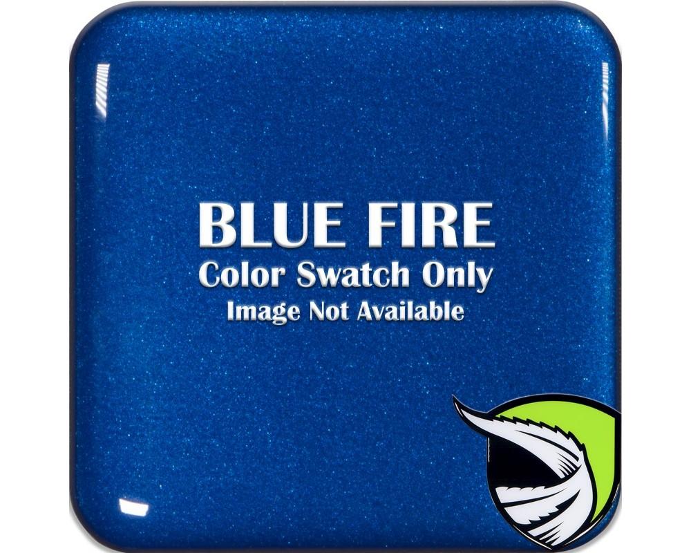Tufskinz BEZ007-GBL-017-G Media Bezel Inserts Fits 2015-2017 Polaris Slingshot 2 Piece Kit In Blue Fire / White Text