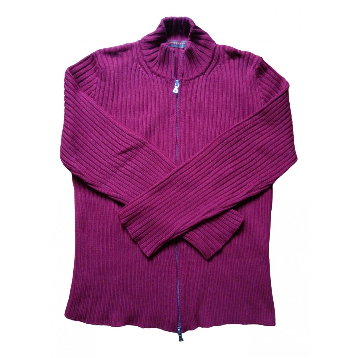 Prada \N Pullover.Westen.Sweatshirts  in  Bordeauxrot Wolle