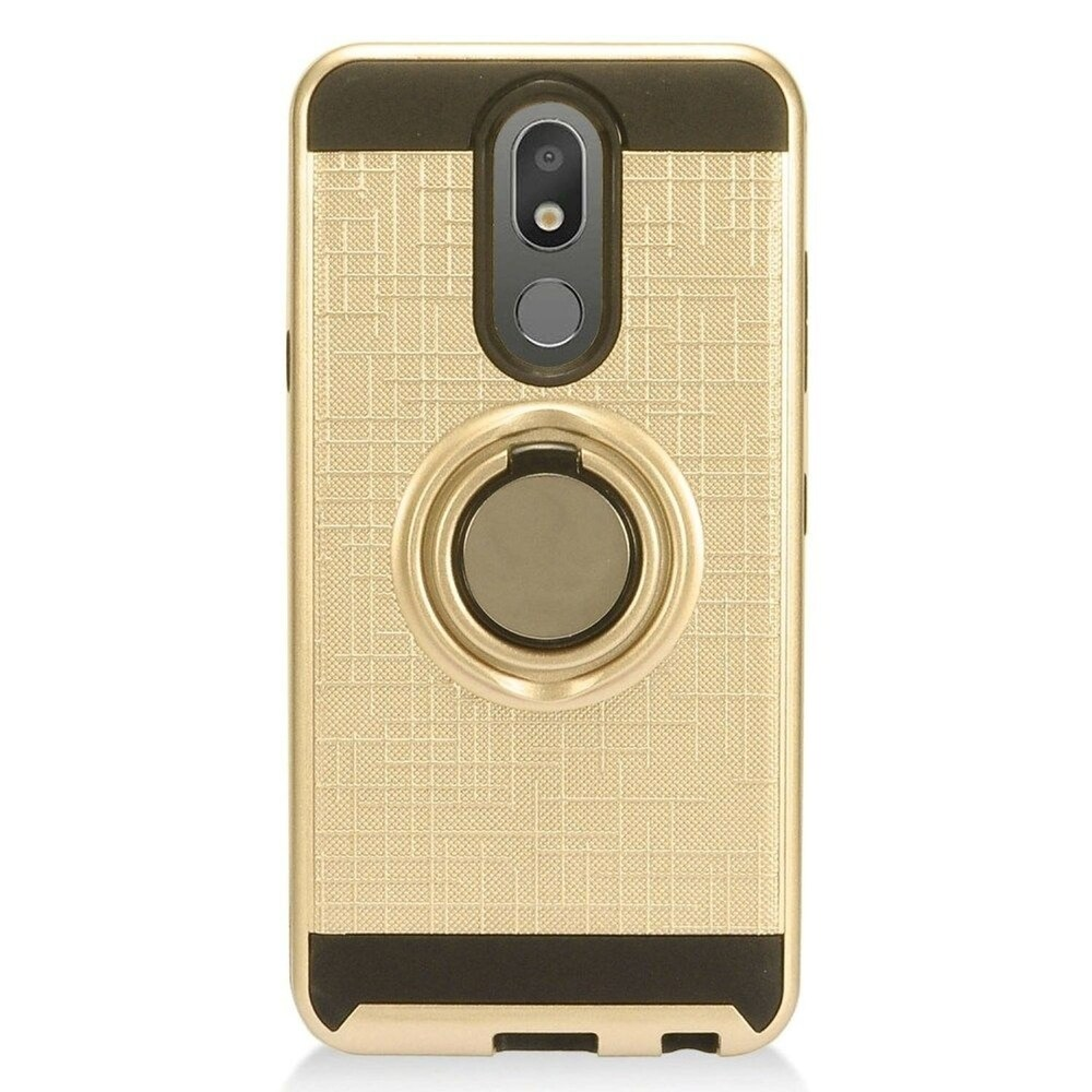 Insten Hard Dual Layer Brushed TPU Case w/stand For LG Arena 2/Aristo 4 Plus/Escape Plus/Tribute Royal - Gold (Gold)