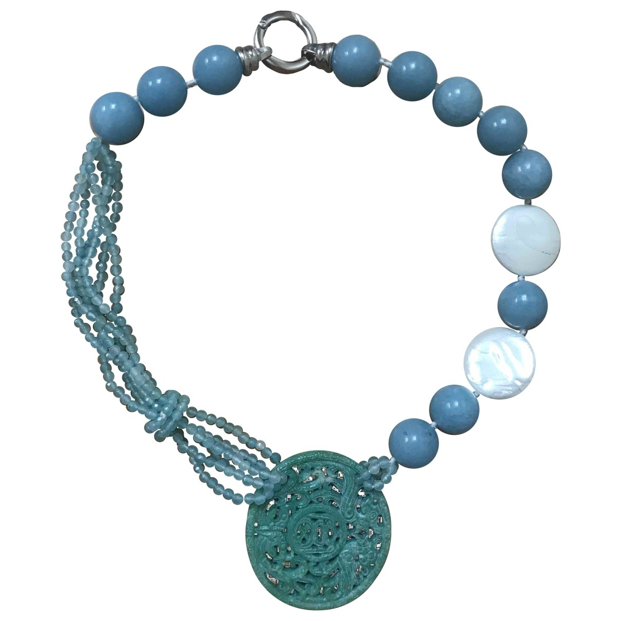 Non Signé / Unsigned Turquoises Turquoise Pearls necklace for Women \N