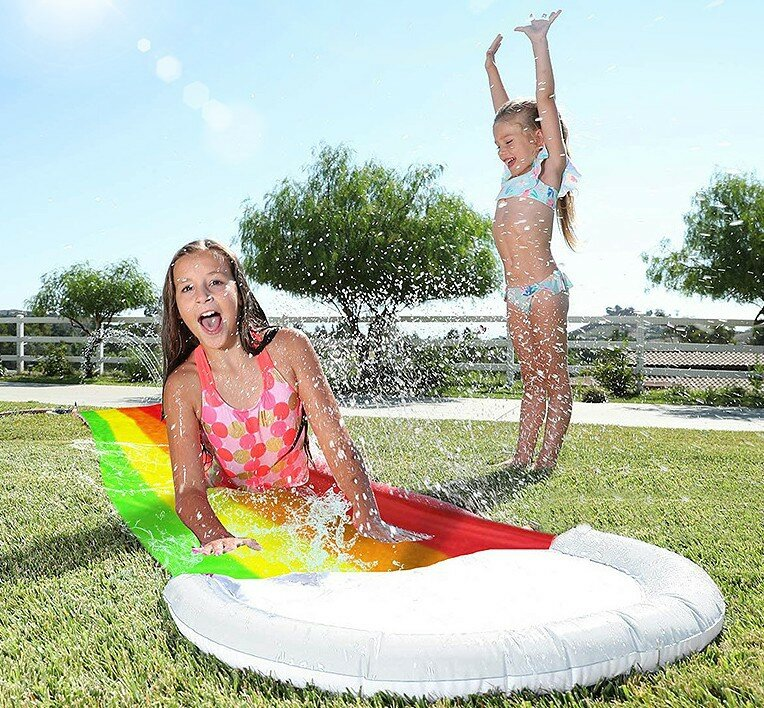 Surf Water Slide Mat Lawn for Children Summer Pool Games Toys Backyard Outdoor Water Skater