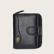 Maenner Brieftasche mit Metall Detail und Reissverschluss
