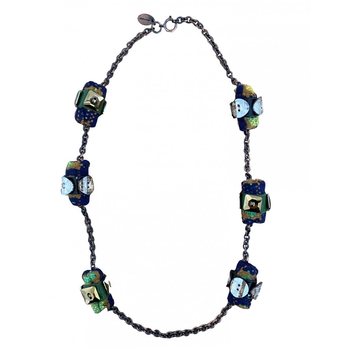 Miu Miu \N Halskette in  Blau Kristall