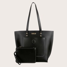 Large Capacity Tote Bag With Purse