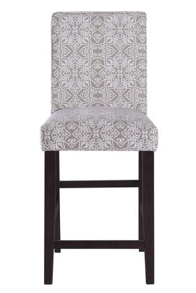 156DS-A072-502-625 Upholstered Square Back 24 Counter Stool in Parisian Taupe