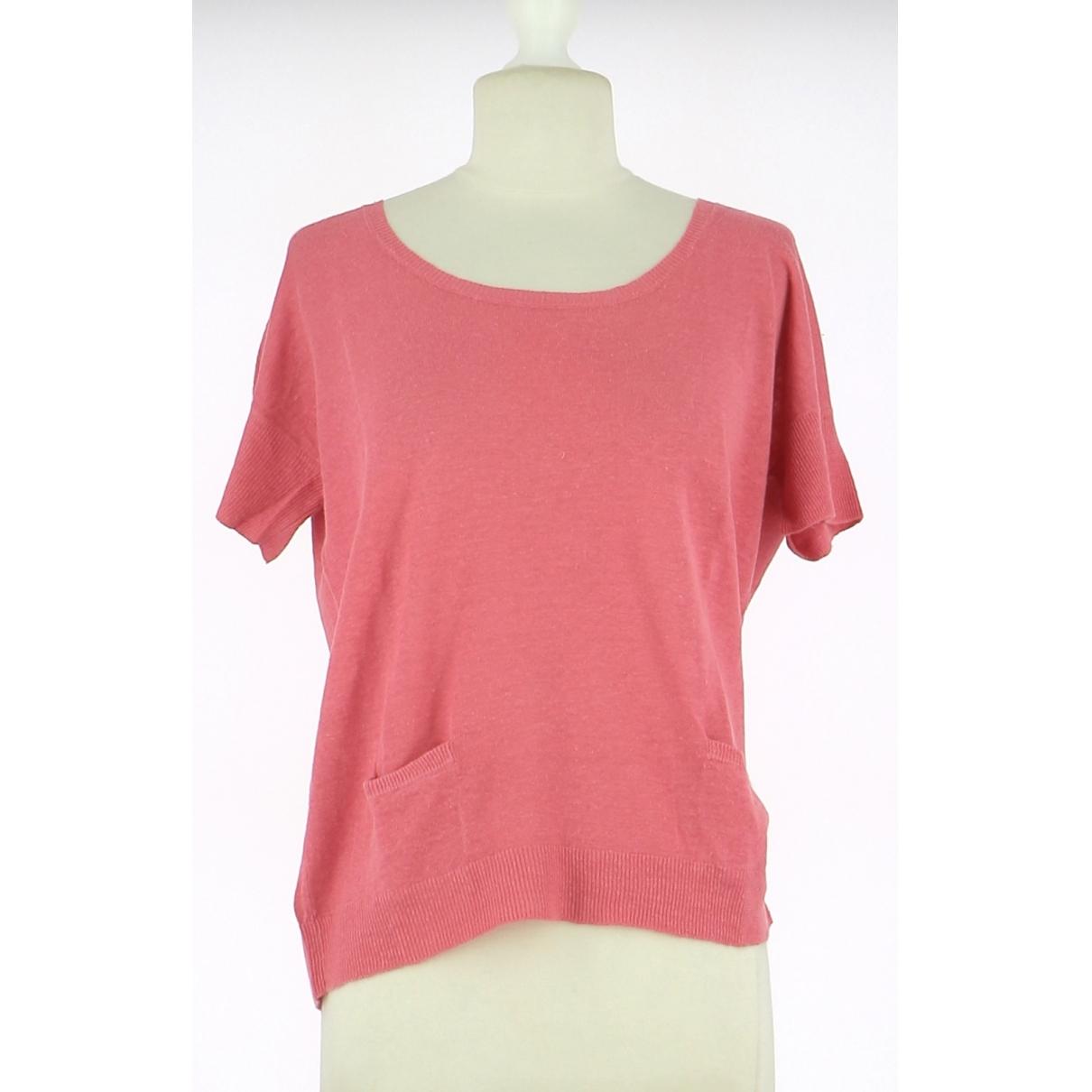 Gerard Darel - Top   pour femme en lin - rose