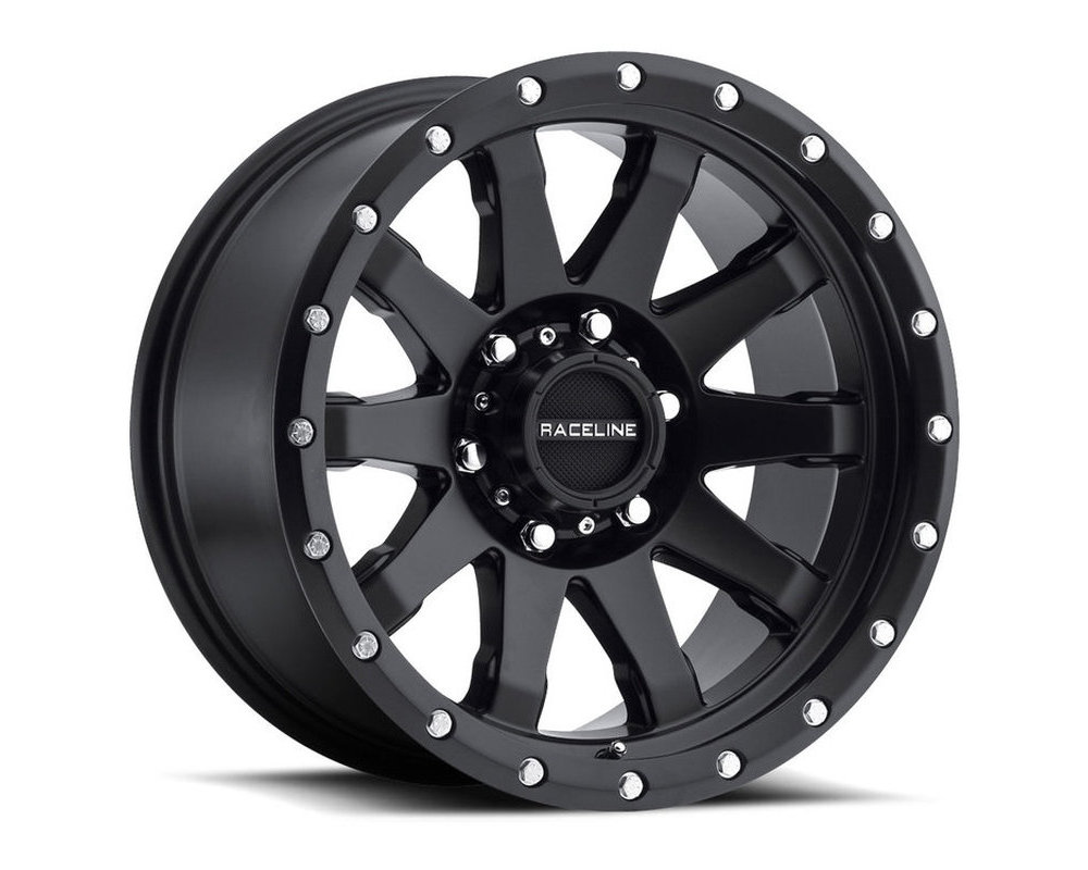 Raceline 934B Clutch Satin Black w/ Simulated Beadlock Wheel 20X9 6X139.7 18mm