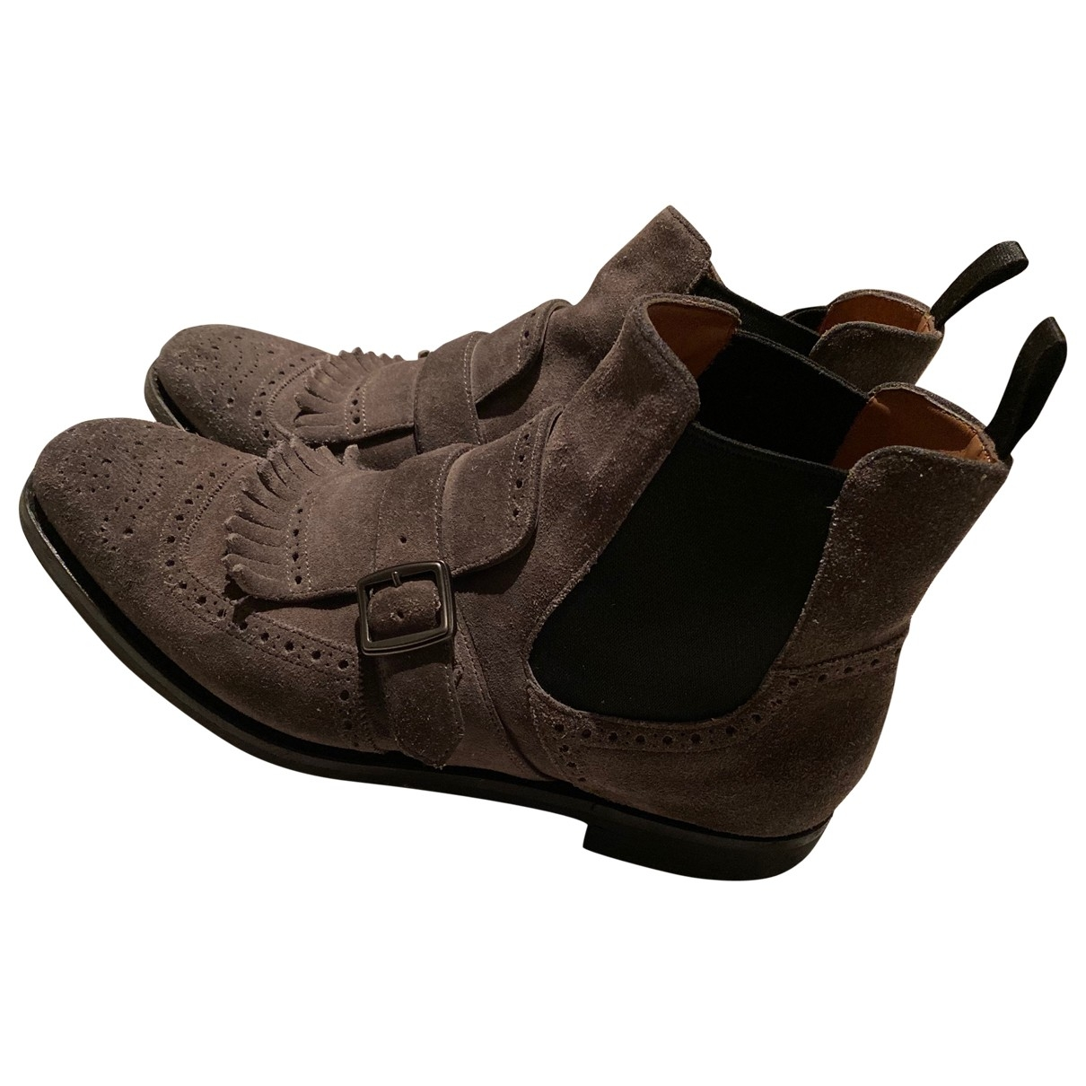 Church's \N Grey Suede Ankle boots for Women 38 EU