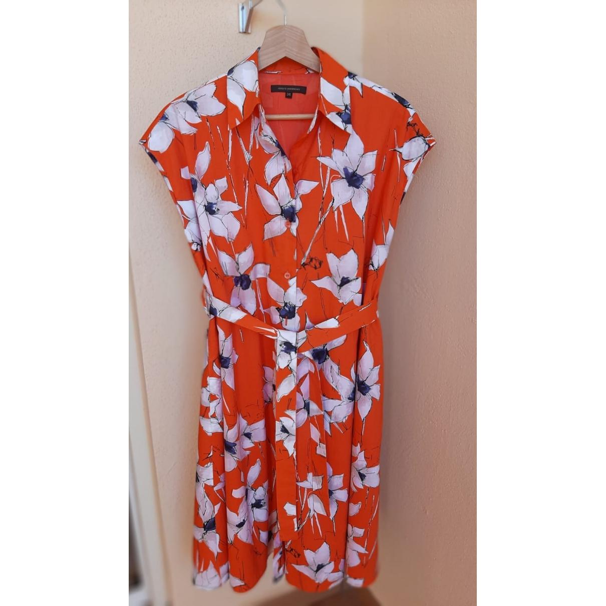 Adolfo Dominguez \N Kleid in  Orange Baumwolle