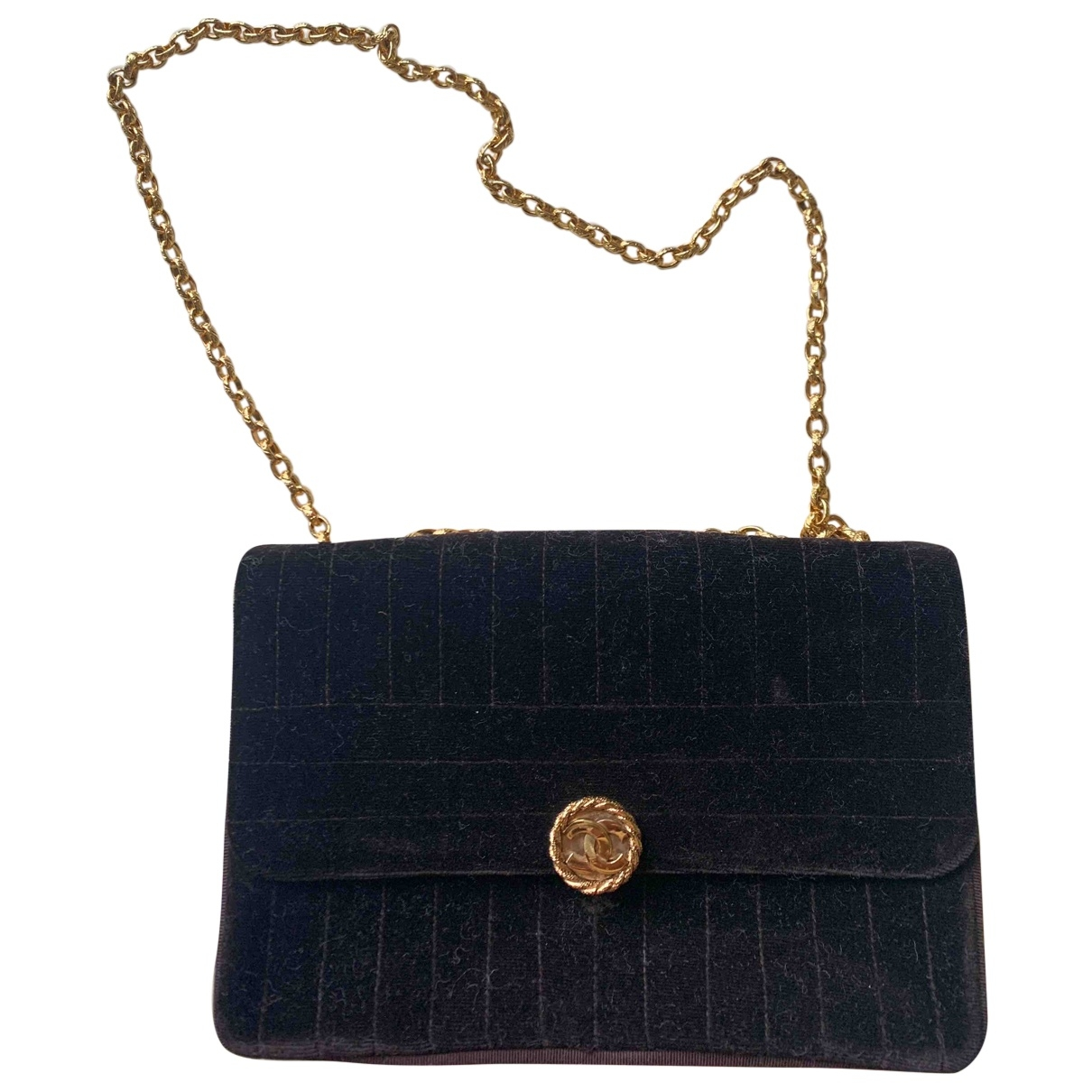 Chanel \N Handtasche in  Braun Samt