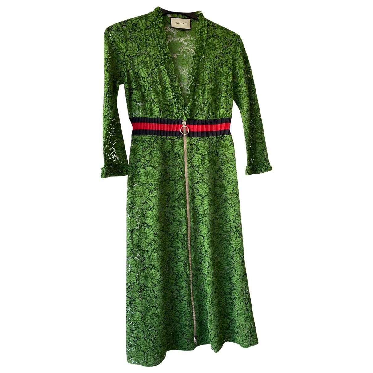 Gucci \N Green Cotton dress for Women 40 IT