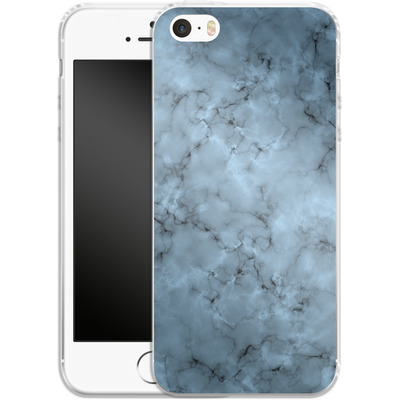 Apple iPhone 5 Silikon Handyhuelle - Blue Marble von caseable Designs
