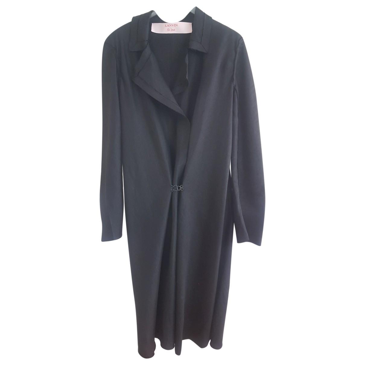 Lanvin - Manteau   pour femme en lin - noir
