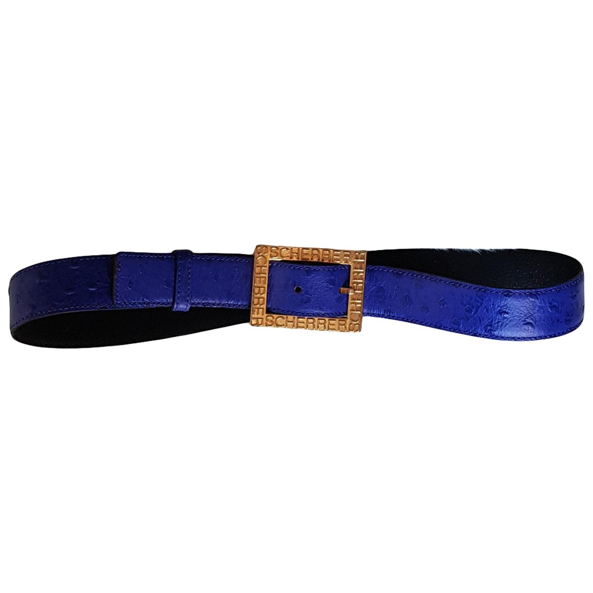Cinturon de Cuero Jean-louis Scherrer