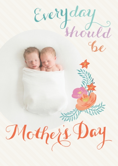 Mother's Day Cards 5x7 Folded Cards, Premium Cardstock 120lb, Card & Stationery -Graceful Florals