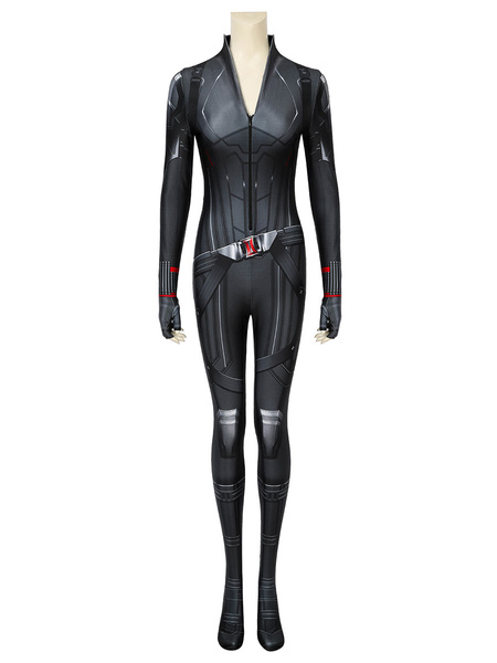 Milanoo Marvel Comics Avengers 4 Black Widow Cosplay Costume Halloween