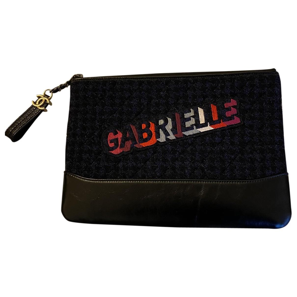 Bolsos clutch Gabrielle en Tweed Marino Chanel