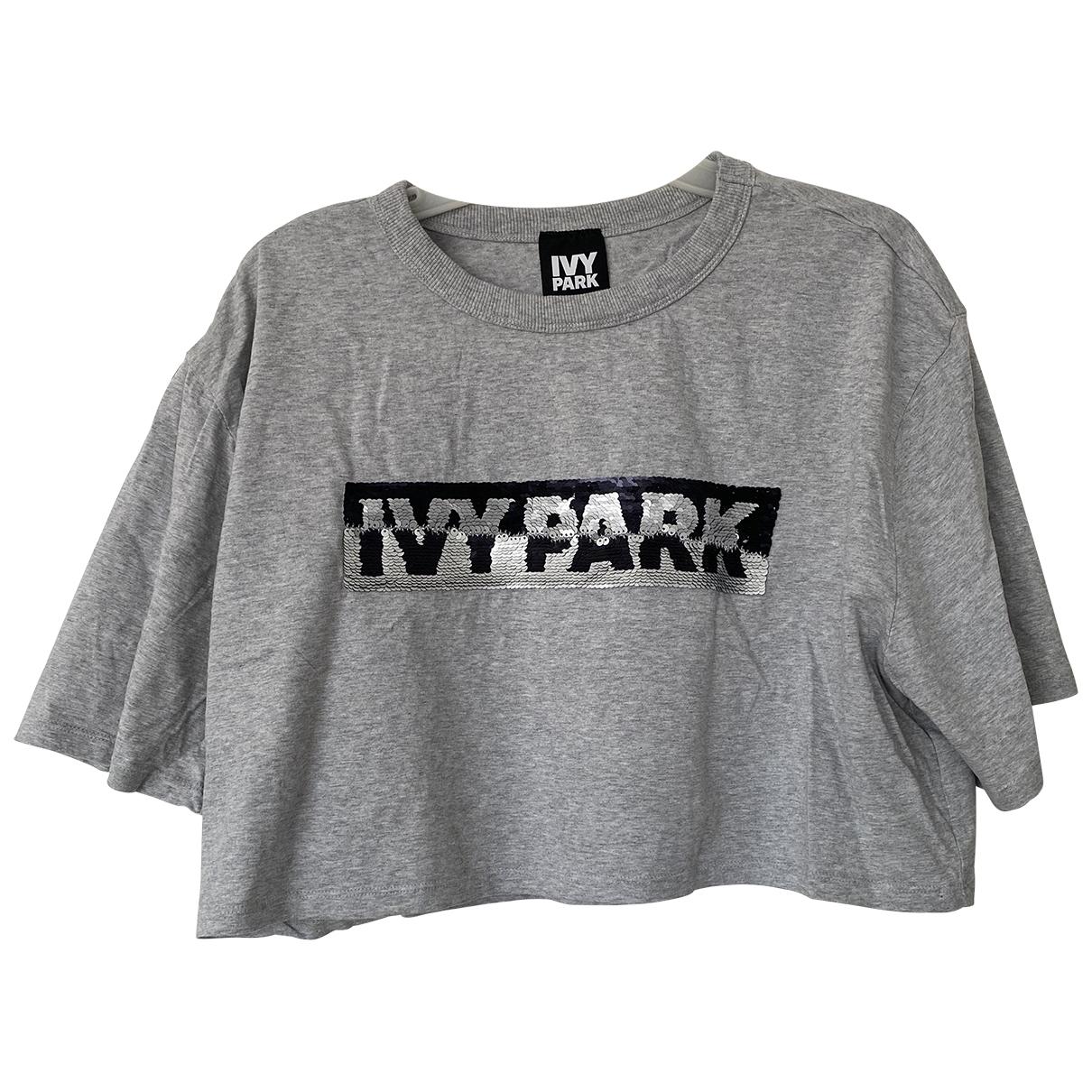 Ivy Park - Top   pour femme en coton - gris
