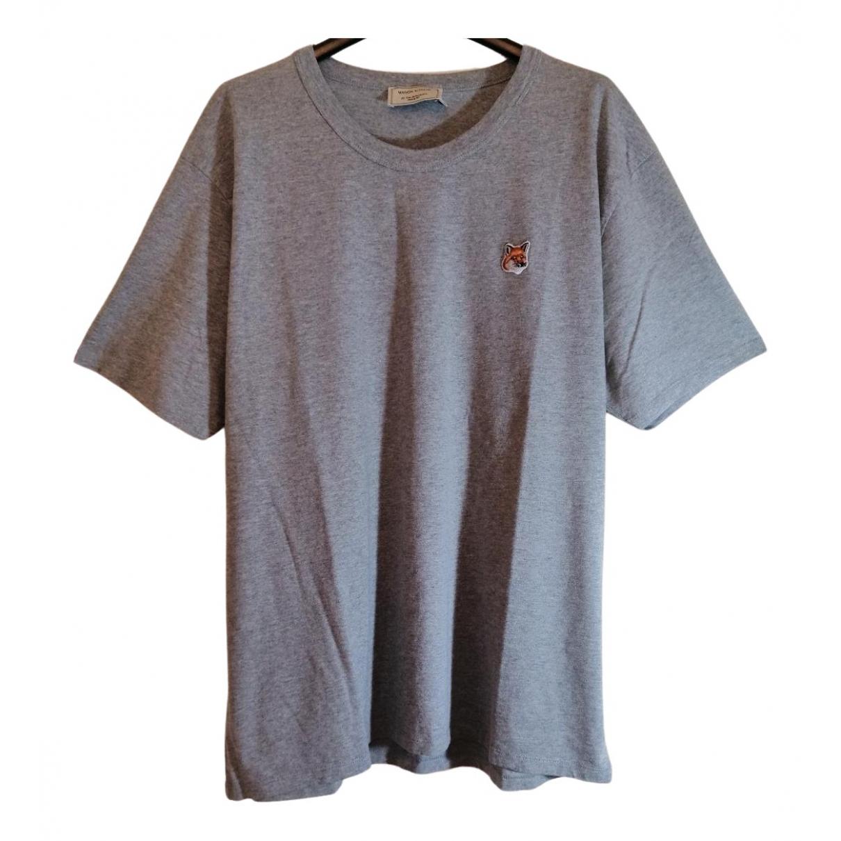 Maison Kitsune \N T-Shirts in  Grau Baumwolle