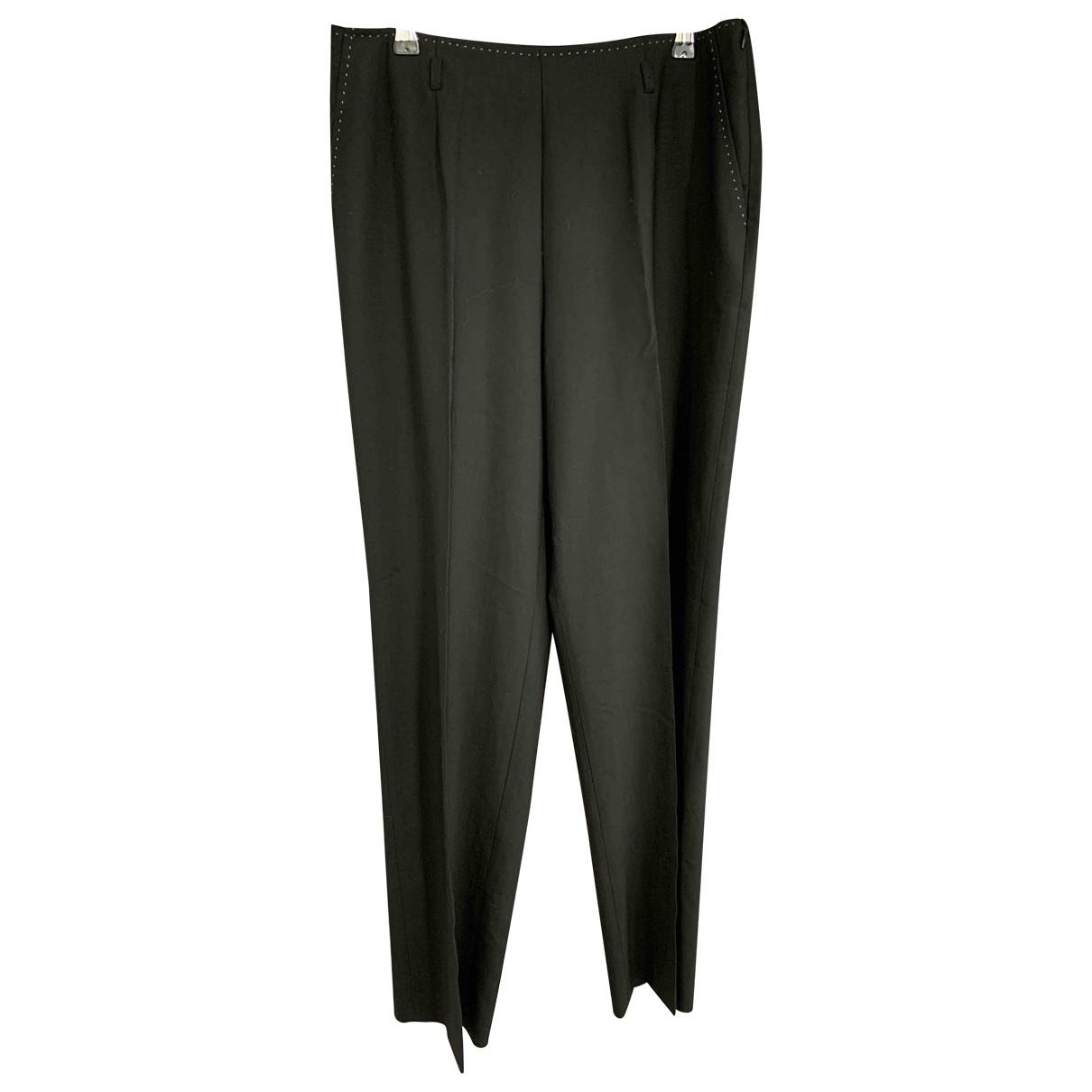 Cyrillus \N Black Wool Trousers for Women 44 FR