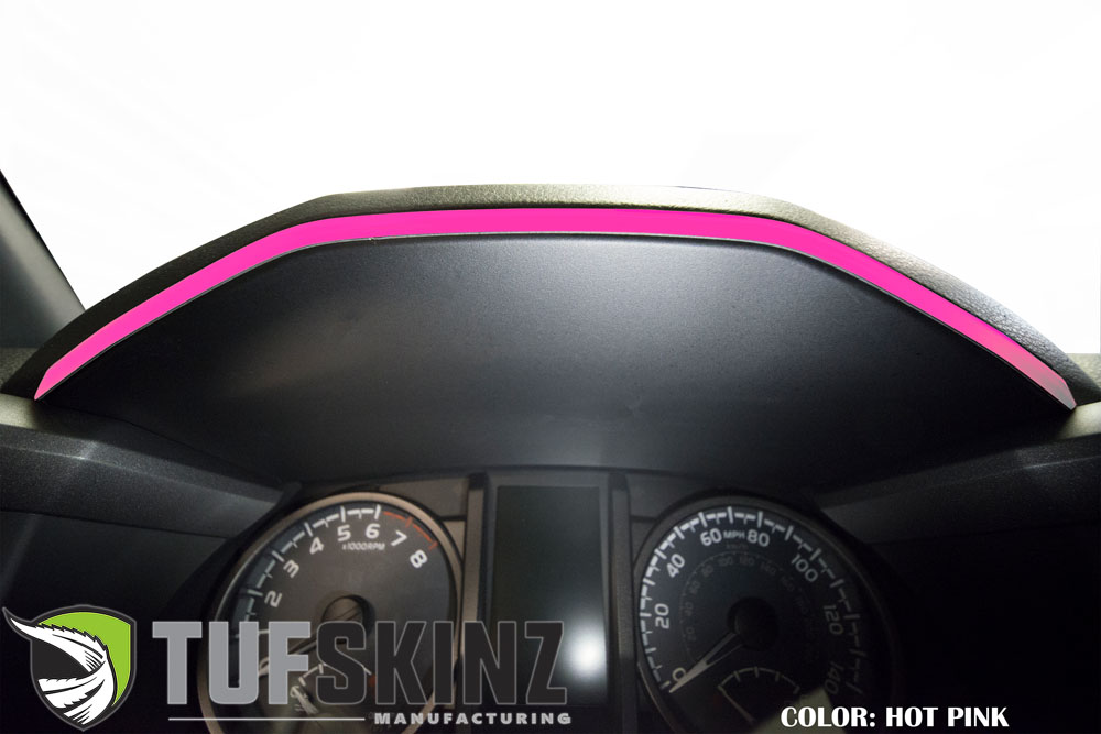 Tufskinz TAC018-HPK-G Dashboard Accent Trim Fits 16-up Toyota Tacoma 1 Piece Kit in Hot Pink