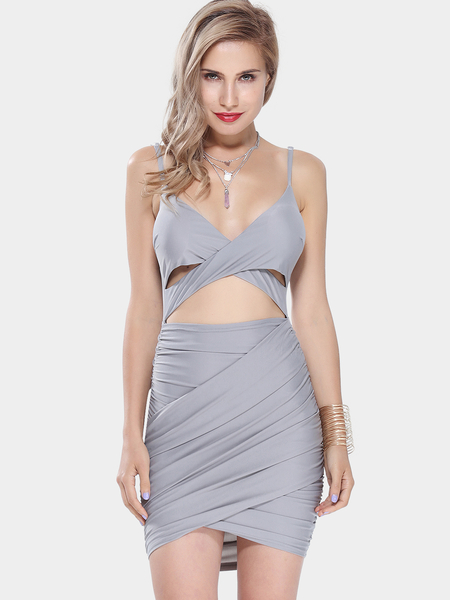 Yoins Cross Over Dress with Cut Out Detail