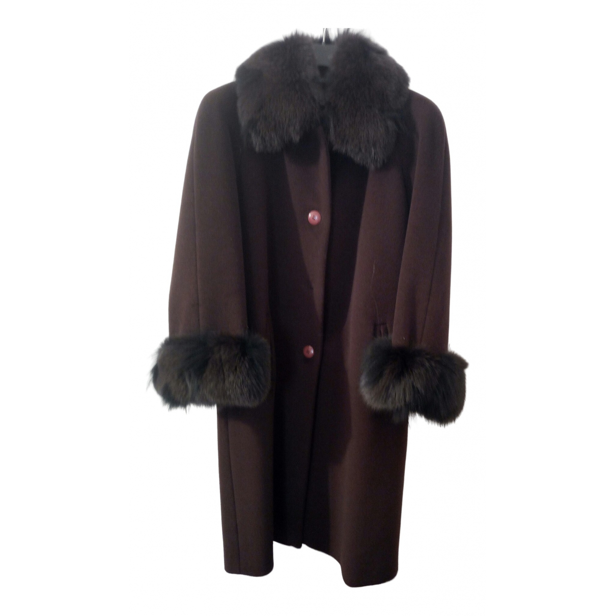 Non Signé / Unsigned \N Brown Wool coat for Women 46 IT