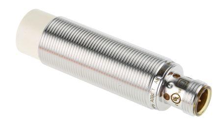 ifm electronic M18 x 1 Inductive Sensor - Barrel, PNP-NO Output, 12 mm Detection, IP67, M12 - 4 Pin Terminal