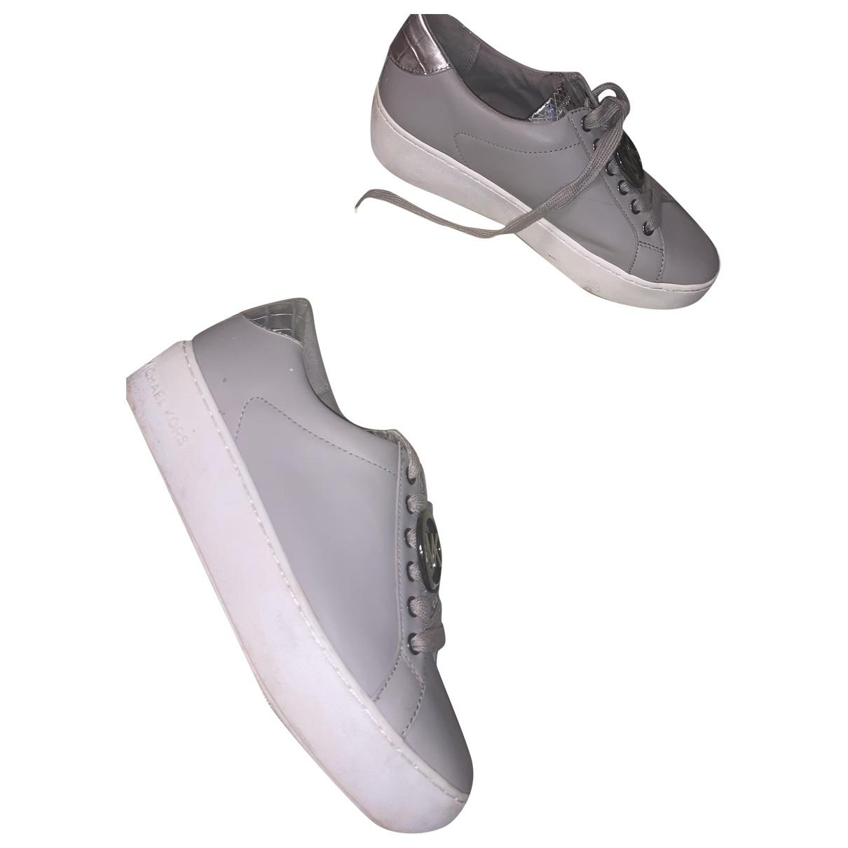 Michael Kors \N Sneakers in  Grau Leder