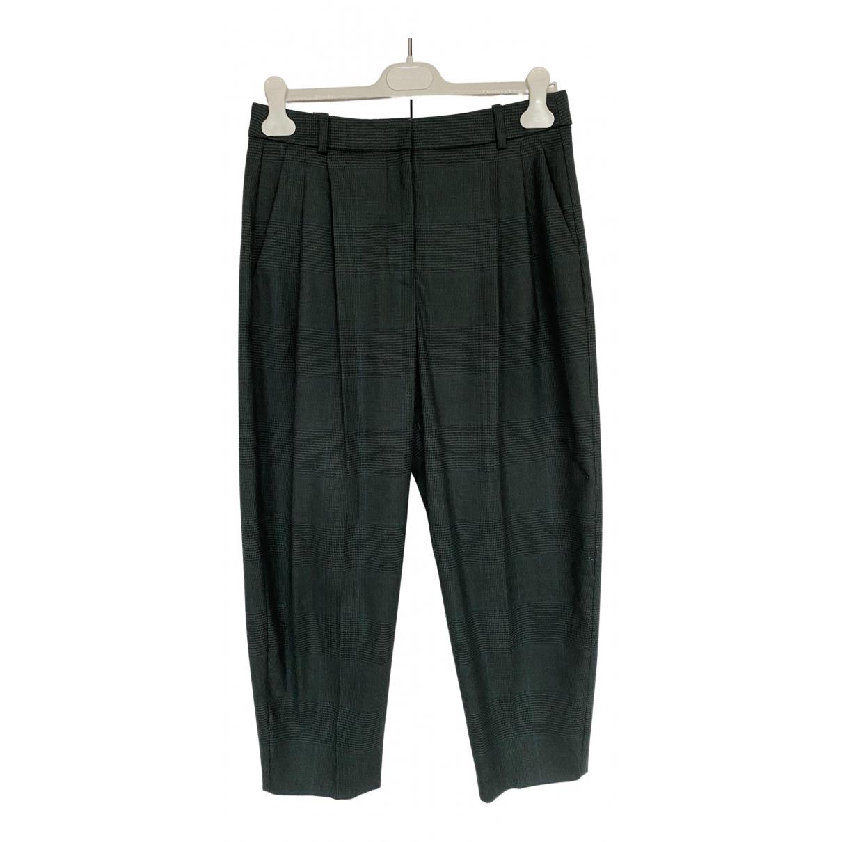Stella Mccartney N Green Wool Trousers for Women 40 IT