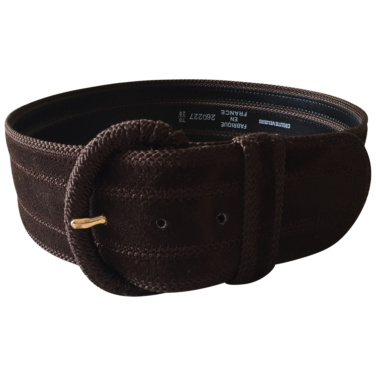 Non Signé / Unsigned \N Brown Suede belt for Women 70 cm