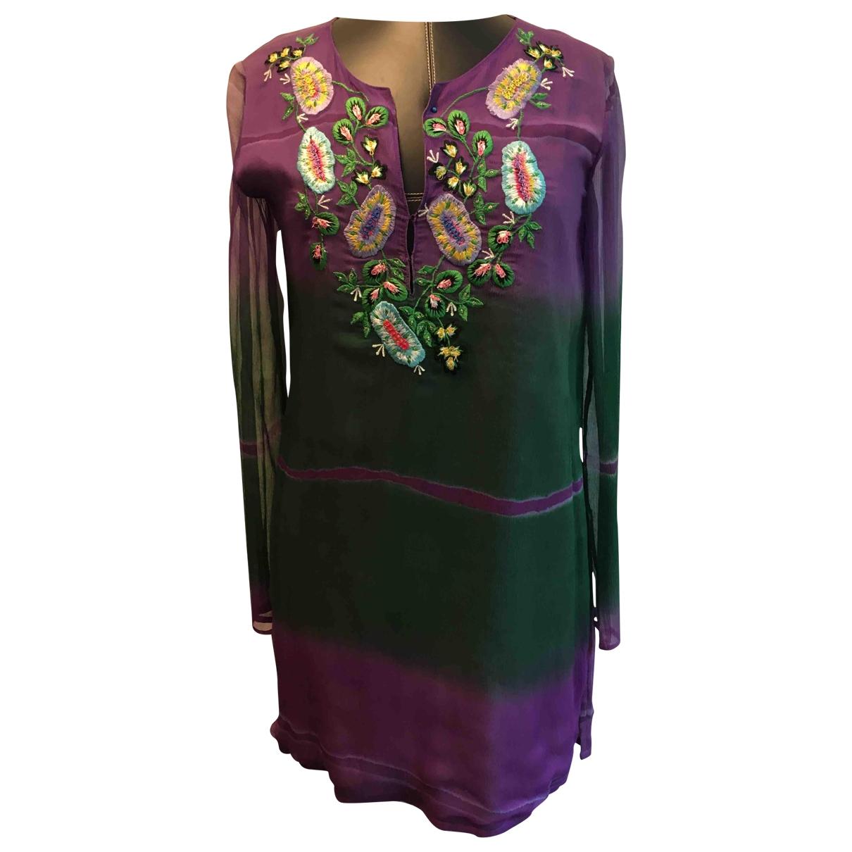 Etro N Multicolour Silk dress for Women 44 FR
