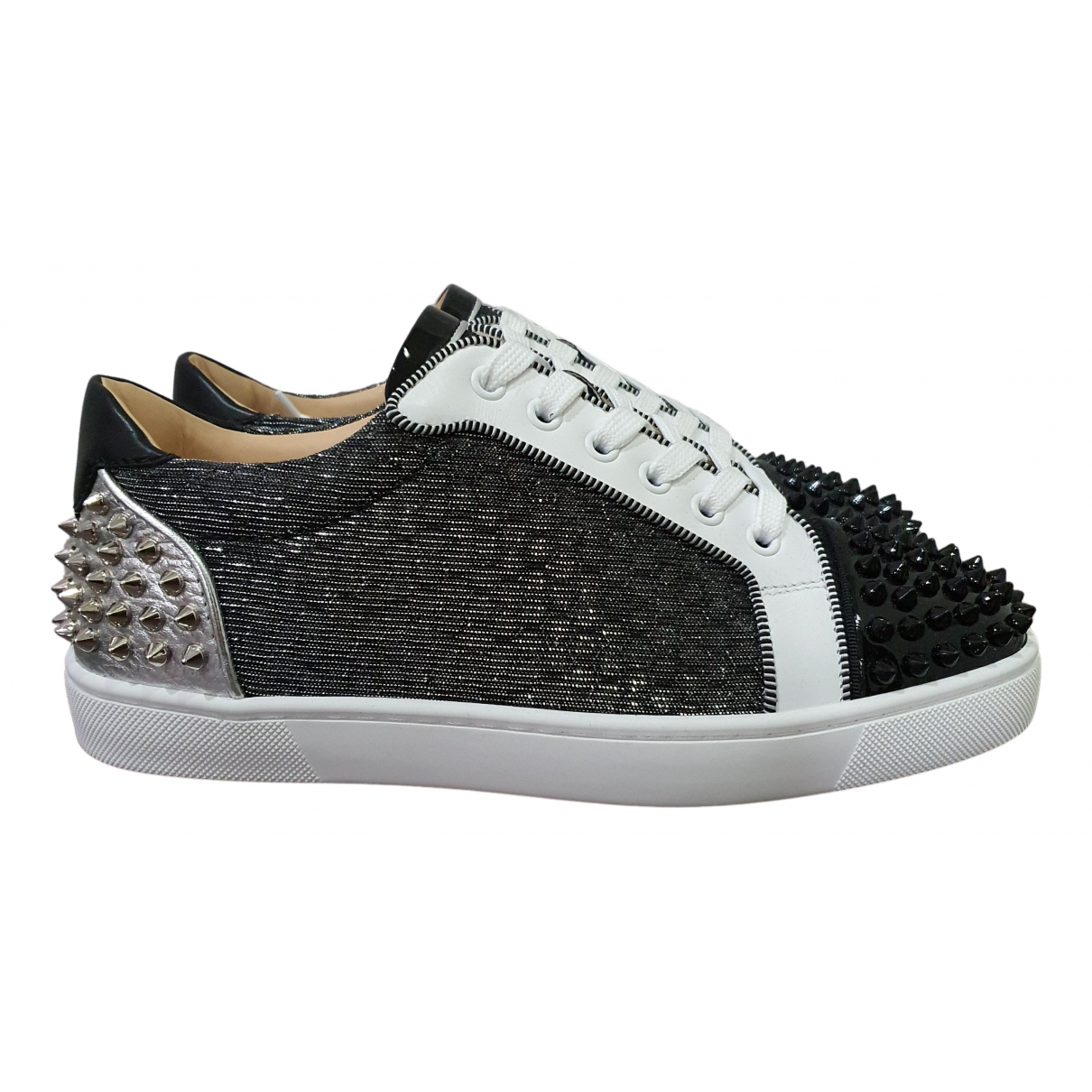 Christian Louboutin Louis junior spike Sneakers in  Anthrazit Polyester