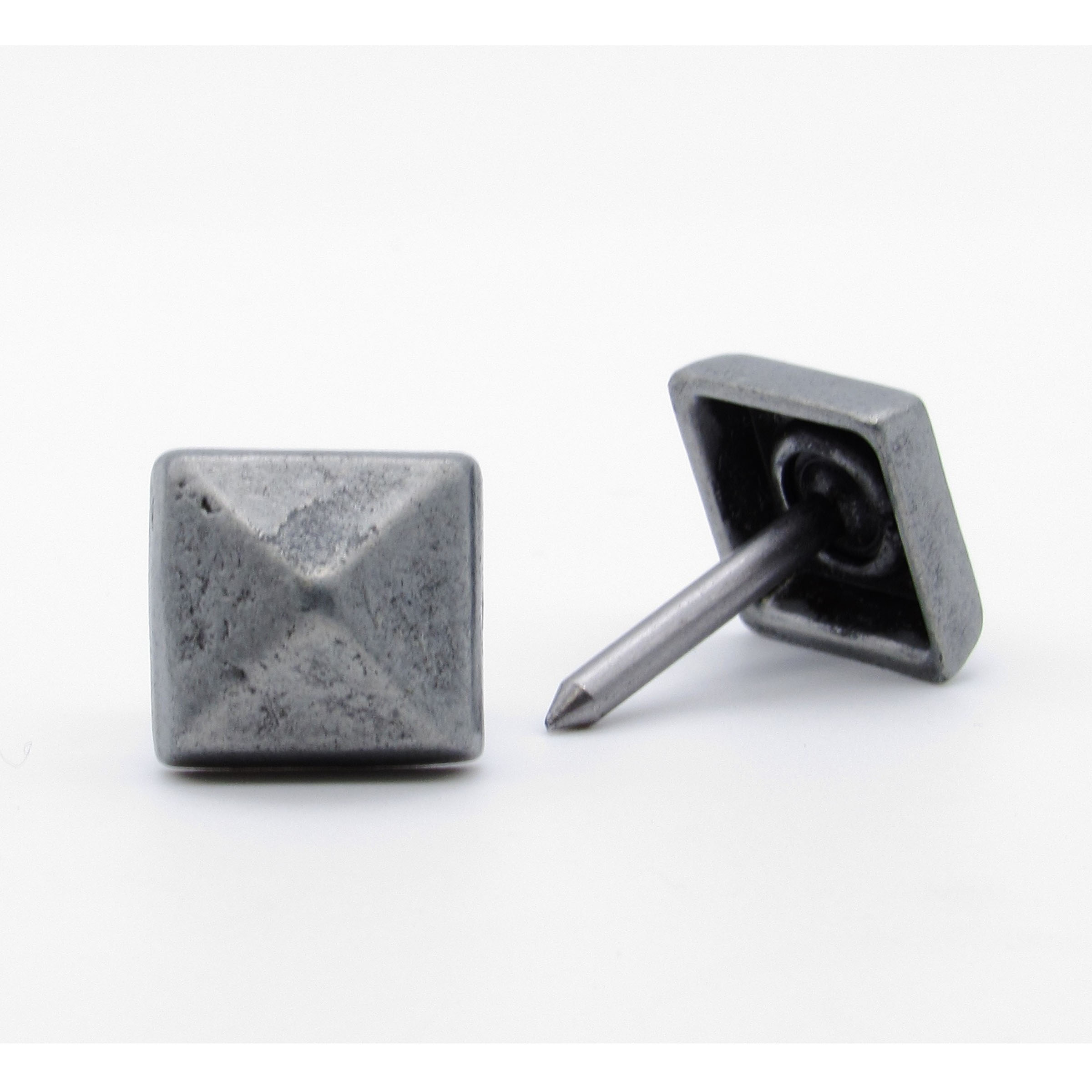 """Square 5/8"""" Clavo Decorative Nail, 8-Pack, Pewter Oxide"""