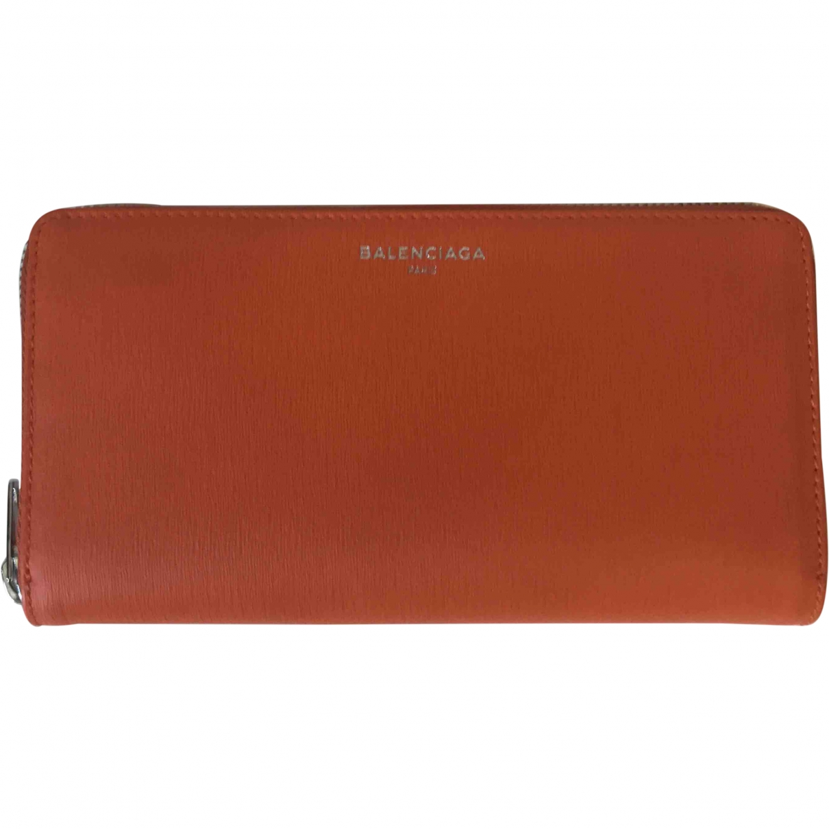Balenciaga \N Orange Leather wallet for Women \N
