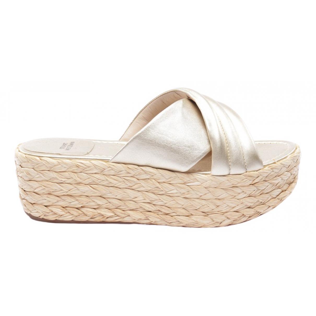 Stuart Weitzman \N Metallic Leather Sandals for Women 40 EU