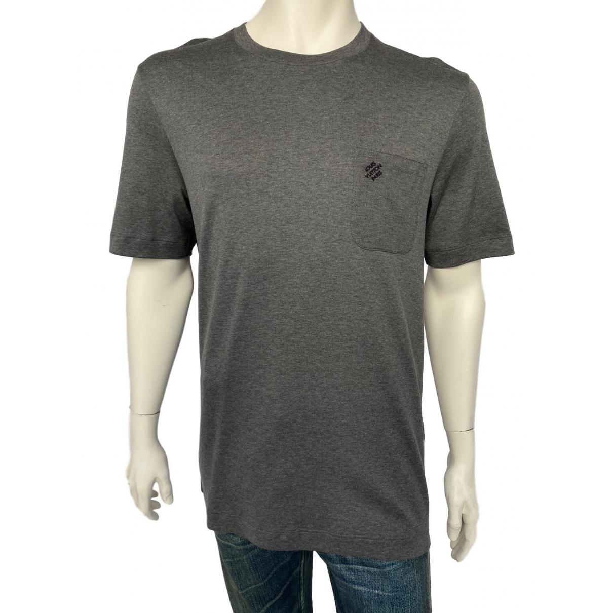 Louis Vuitton - Tee shirts   pour homme en coton - gris